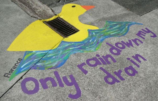 Only rain down my drain
